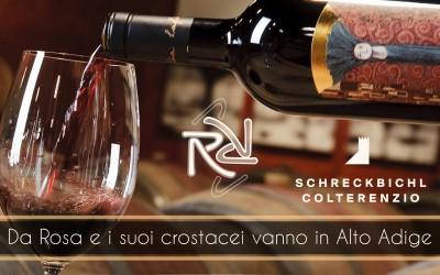 Da Rosa e i suoi crostacei vanno in Alto Adige: serata degustazione con i vini Colterenzio