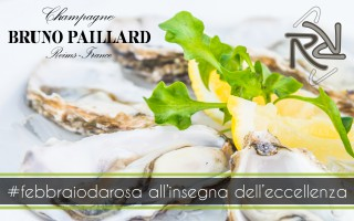 Theme evening with oysters and Bruno Paillard champagne at the Ristorante da Rosa